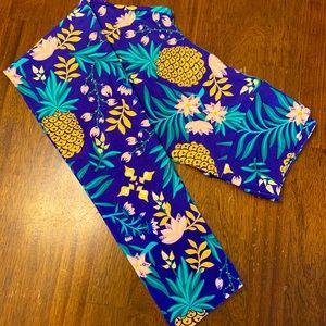 Lila roe Pineapple/Tropical leggings. Unicorn. OS